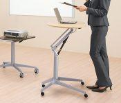 Stůl OKAMURA RISEFIT se Stříbrnou nohou