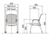 Židle OKAMURA CONTESSA Meeting Stříbrný Rám