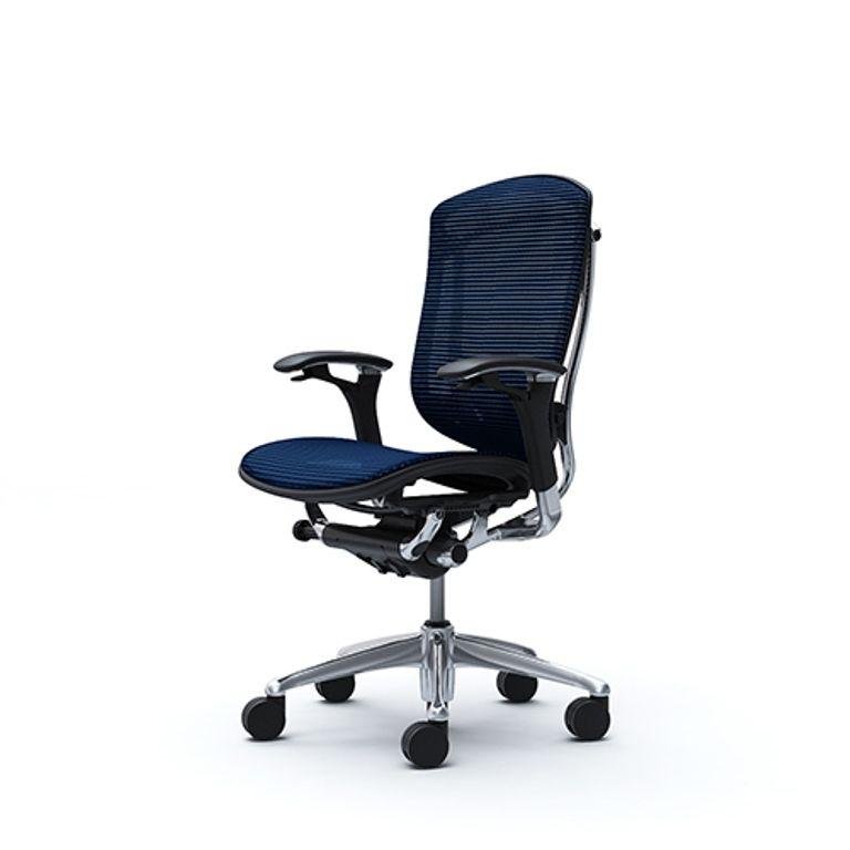 Židle CONTESSA Leštěný rám Tmavě modrá