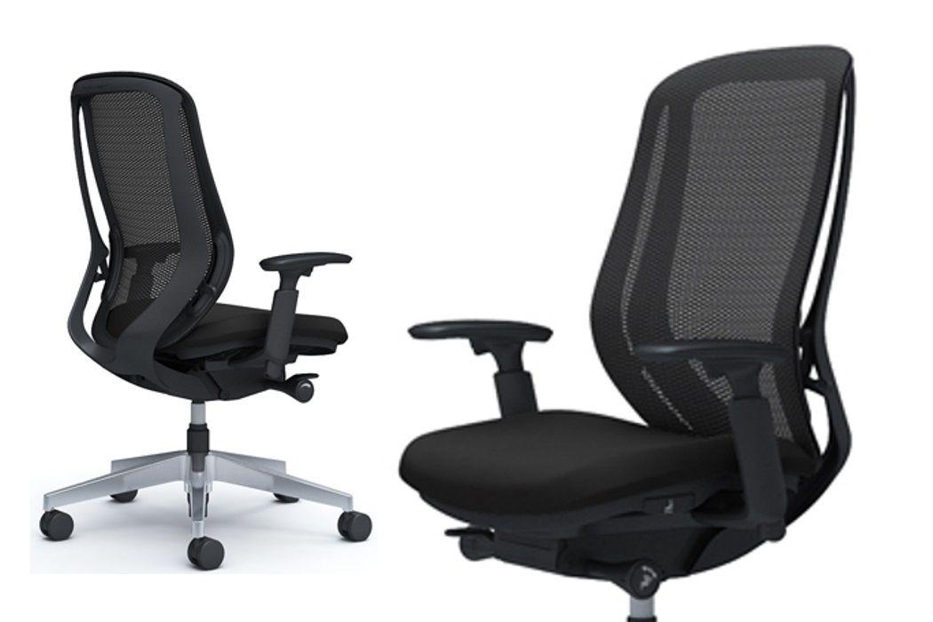 Židle OKAMURA SYLPHY Leštěný Kříž Černá Síťovina