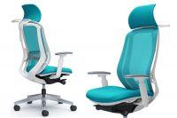 Židle Okamura SYLPHY Blue Green Bílý plast