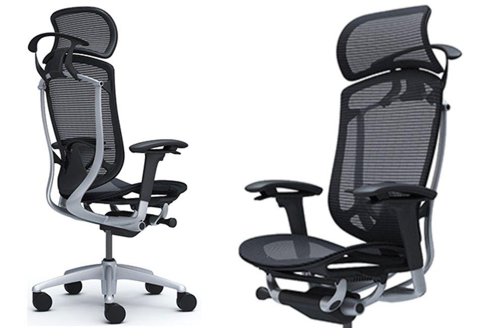 Židle OKAMURA CONTESSA SECONDA Černá síť Stříbrný rám