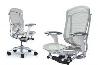 Židle Okamura Contessa 2 Bílá kostra Světle Šedá síťovina