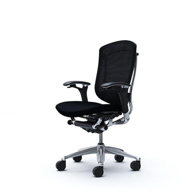 Židle CONTESSA Leštěný rám Černá