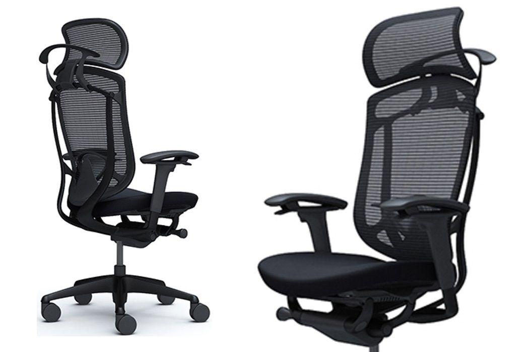 OKAMURA CONTESSA SECONDA Black Cushion Seat Black Frame Chair