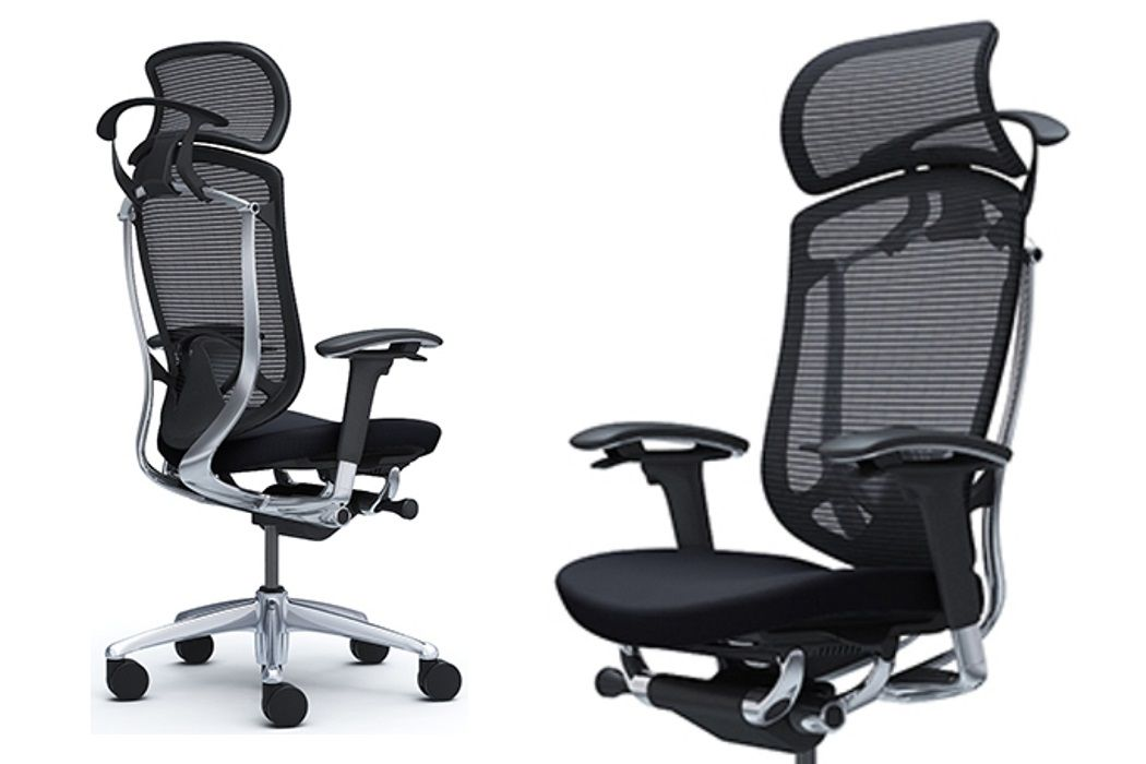 Židle Okamura Contessa Seconda Černá látka Leštěný rám