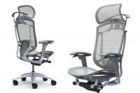 Židle Okamura Contessa Seconda Šedý plast Světle šedá síť