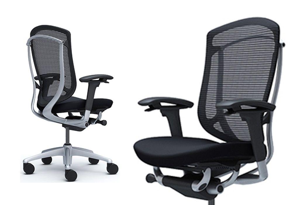 CONTESSA 2 Silver frame Black Cushion Seat Chair