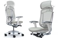 OKAMURA CONTESSA SECONDA White Body Light grey Cushion Seat Chair