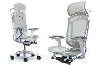 Židle Okamura Contessa Seconda Bílý plast Světle šedá síť