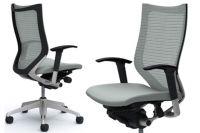 Židle OKAMURA CP Rám stříbrný Sedák Světle Šedá Látka