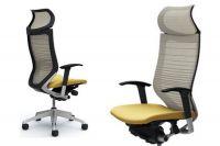 Židle OKAMURA CP Odstupňovaná Síť bílá Sedák béžový