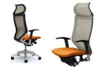 Židle OKAMURA CP Odstupňovaná Síť bilá Sedák oranžový