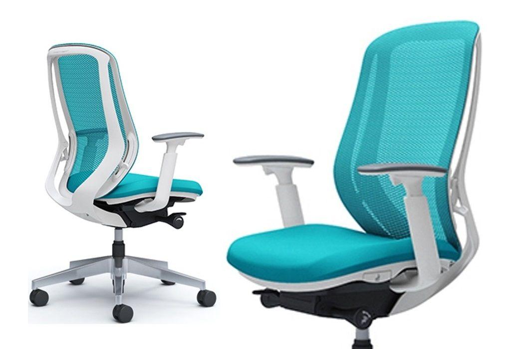 OKAMURA SYLPHY Blue Green White Body Chair