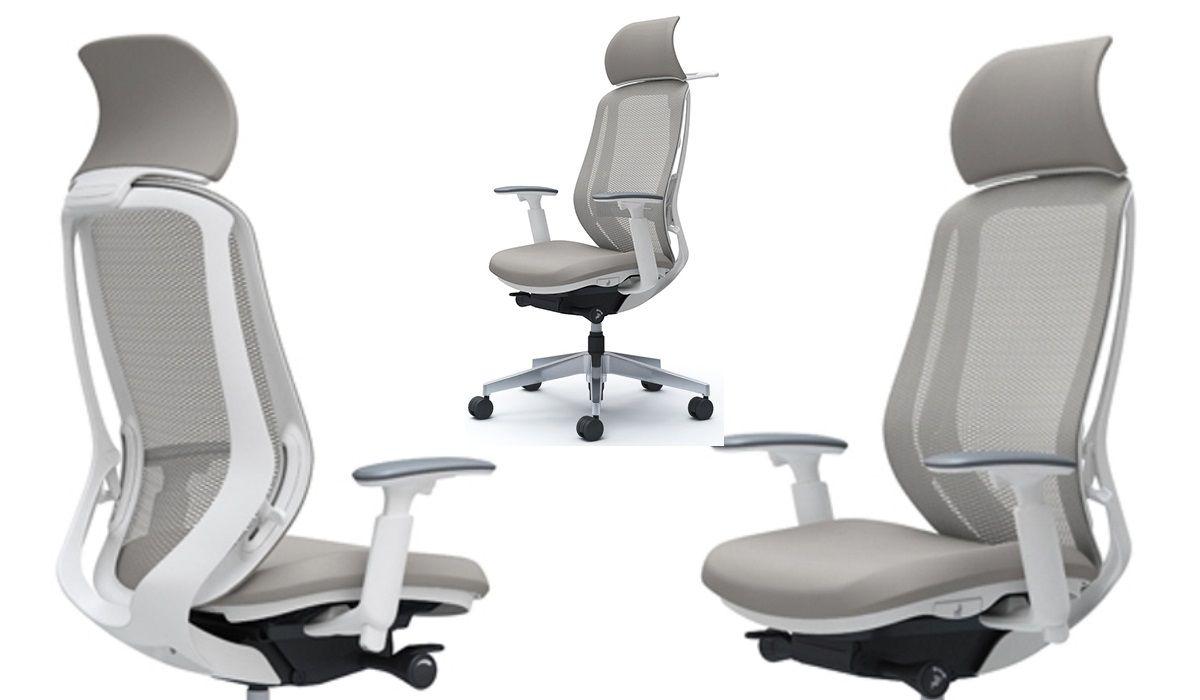 Židle OKAMURA SYLPHY Šedá síť Bílý Plast