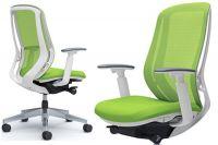 Židle OKAMURA SYLPHY Bílá kostra Lime Green síť