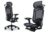 Židle OKAMURA CONTESSA SECONDA Černá síť Černý rám