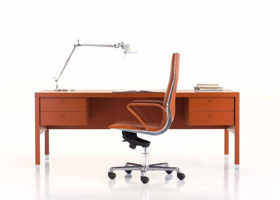 Kancelářský Stůl v Kůži L103
