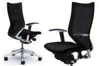 Židle OKAMURA CP Rám leštěný Sedák Černá Látka