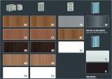 XTime Work - Materiály pro skříně  - Hi-Tech Nábytek X-Time Work s podnoží RING