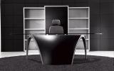 Designový Kancelářský Nábytek LUNA, černá kůže